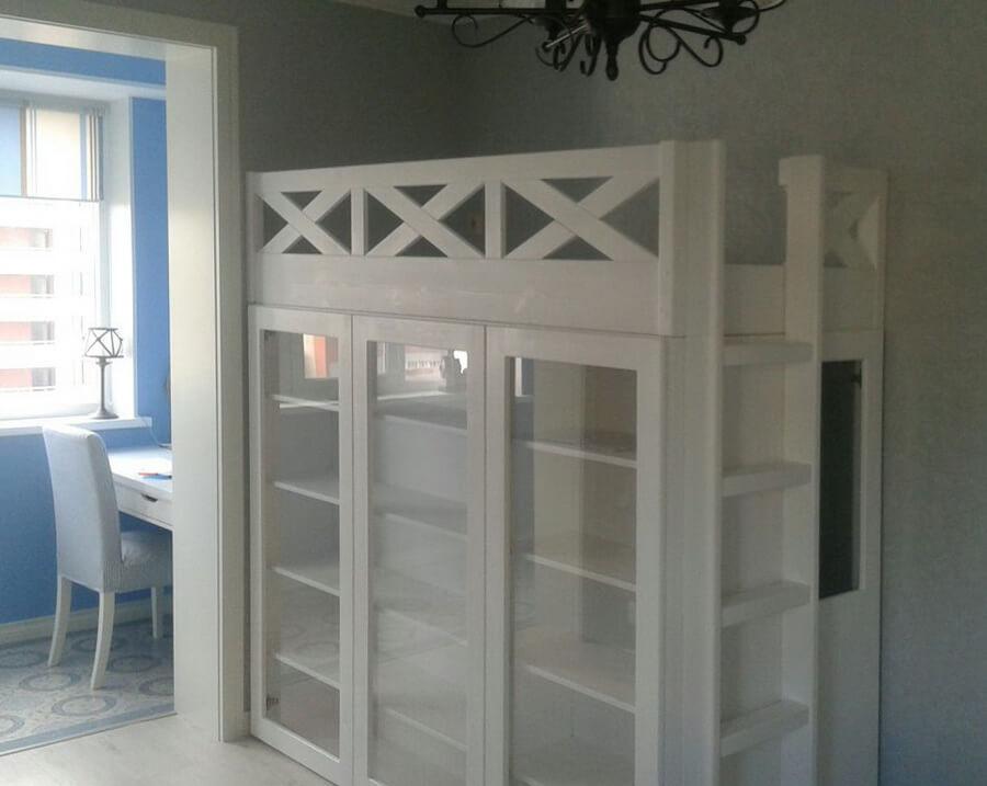 кровать чердак гардероб