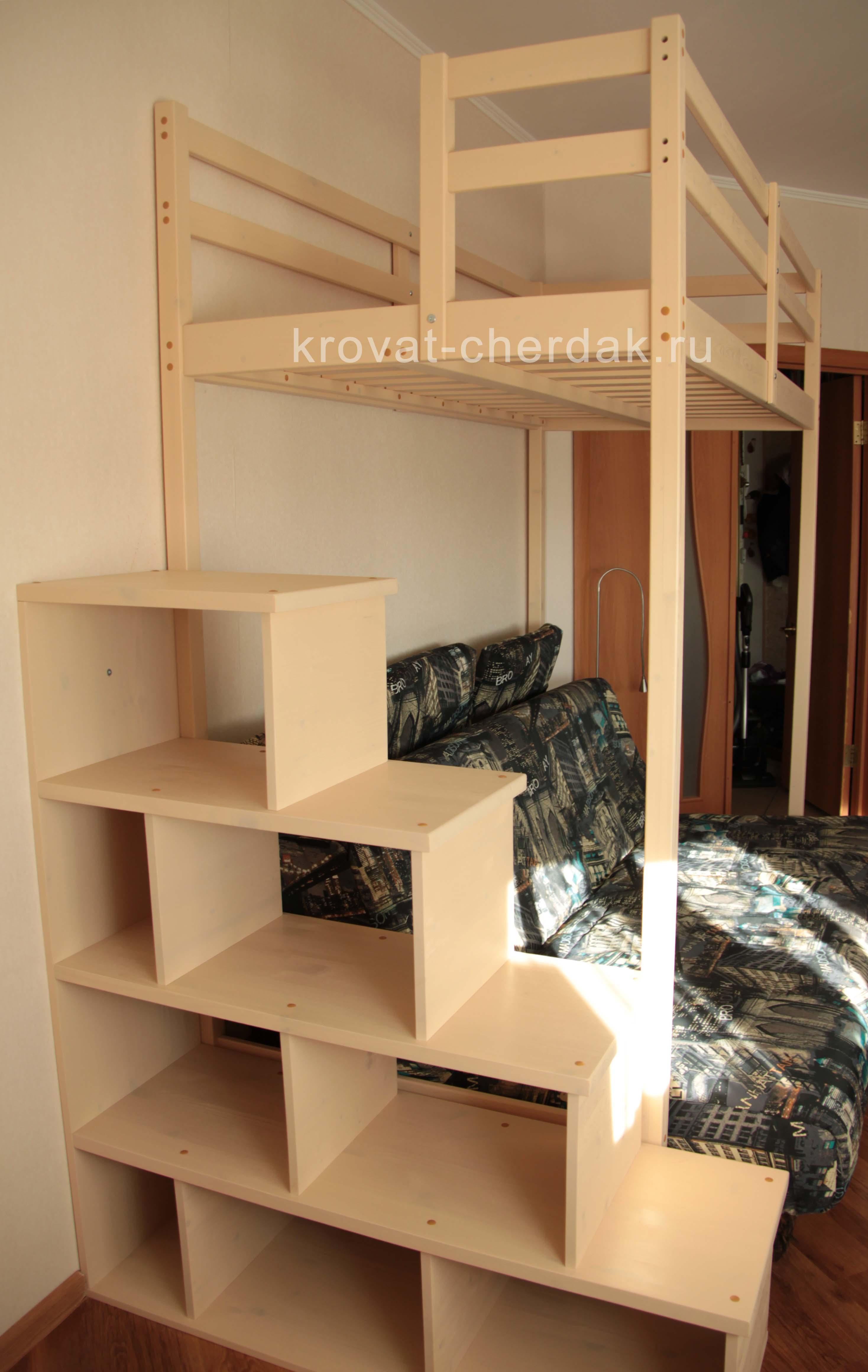 Кровать с лестницей своими руками - чертежи и фото Своими 15